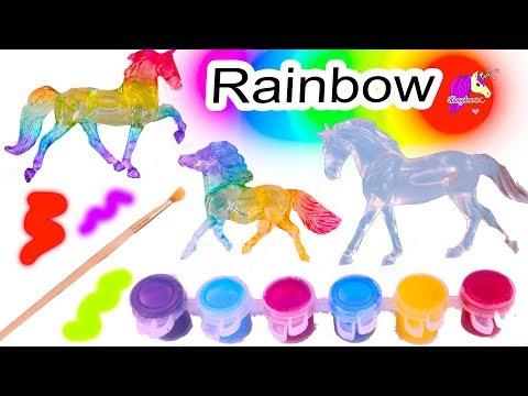 Rainbow Horses ! Do It Yourself Craft Breyer Suncatcher Stablemates