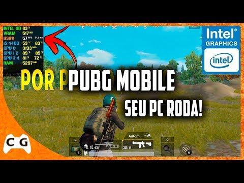 PUBG Mobile Gameplay Teste Intel HD Graphics Roda Em PC Fraco Notebook Fraco #494