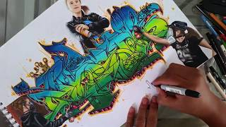 Graffiti wild style tutorial/ Graffiti step by step 2017
