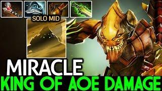 Miracle- [Sand King] King of AOE Damage Ninja Style Mid Lane 7.21 Dota 2