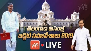Telangana Assembly LIVE | Telangana Assembly Budget Session 2019 LIVE | KCR | Harish Rao | YOYO TV