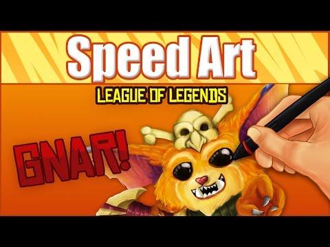 Gnar (League of Legends)-Speed Art