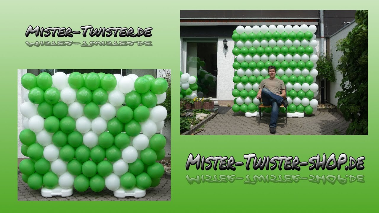 How to make a balloon wall anleitung f r eine ballonwand for How to make wall decoration