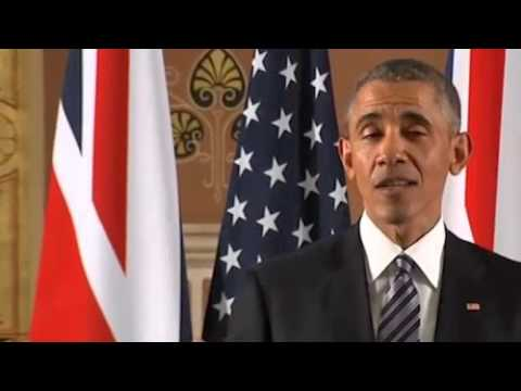 President Obama answers Right Wing lie about Winston Churchill