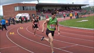 Mens 400m Hurdles at the 2017 Munster T&F Championships...Video by Jerry Walsh