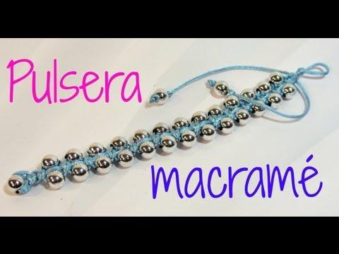 Tutorial: Pulsera con técnica de macramé. Bracelet macrame.