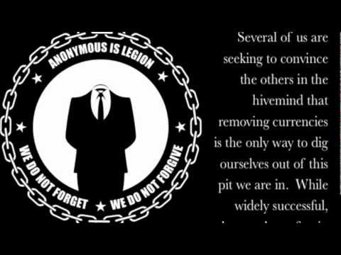 Message from Anonymous to The Zeitgeist Movement and The Venus Project