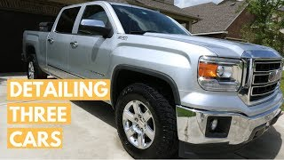 DETAILING 3 CARS IN 7 HOURS: GMC SIERRA, Mercedes e63, & Toyota Camry