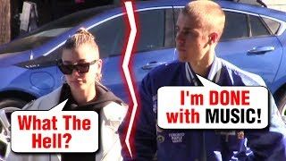 Justin Bieber Hailey Baldwin FIGHT Over NEW MUSIC And Work!