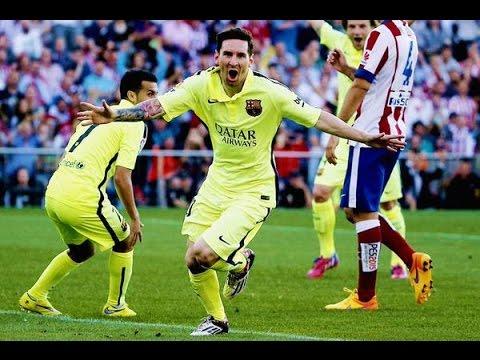 Atletico Madrid vs FC Barcelona - Messi Amazing Goal (17-05-2015) #Campeones
