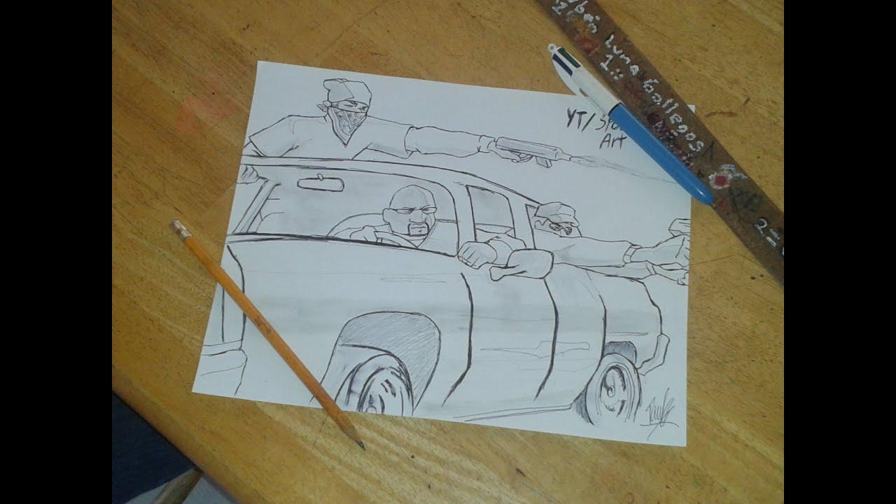 Cj Scribble Drawing : Speed drawing gta san andreas youtube