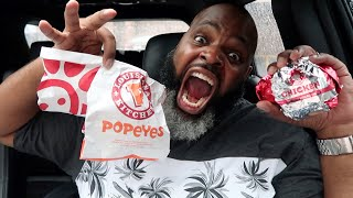 Popeyes Chicken Sandwich vs Chick Fil-A | WHICH IS BETTER?