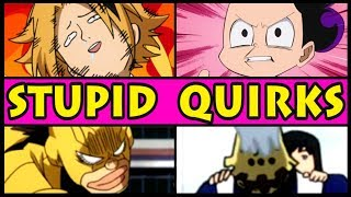Top 5 STUPID, HILARIOUS Quirks in My Hero Academia! (Boku no Hero Academia Season 3 / S3)