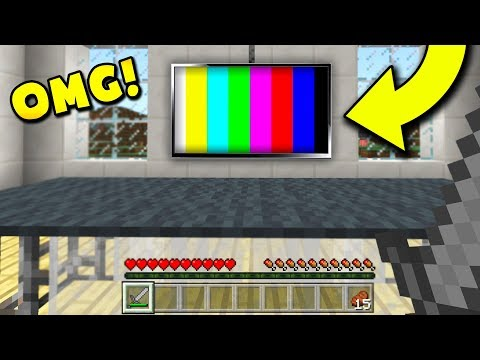 How to get a WORKING TELEVISION IN MINECRAFT! (Minecraft Pocket Edition)