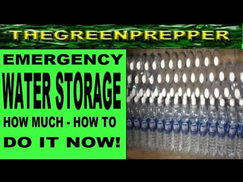 WATER STORAGE - How much - How To ( DO IT NOW ) SHTF WROL