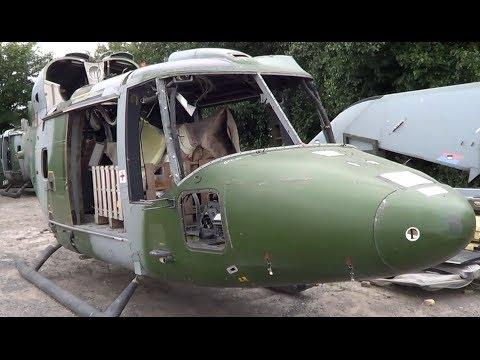 Amazing Westland Lynx Helicopter graveyard