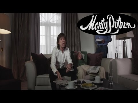 Mick Jagger introduces the Monty Python Live (mostly) Press Conference