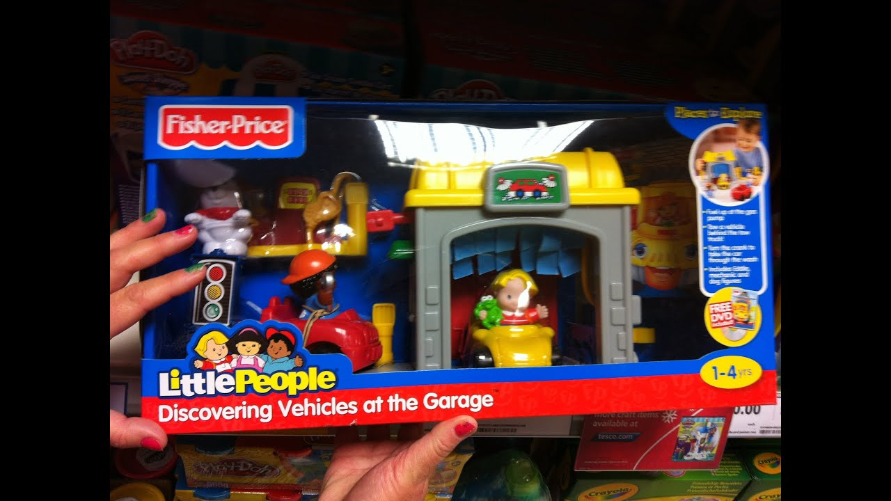 Overview of FISHER-PRICE LITTLE PEOPLE DISCOVERING VEHICLES AT THE GARAGE Toy - YouTube