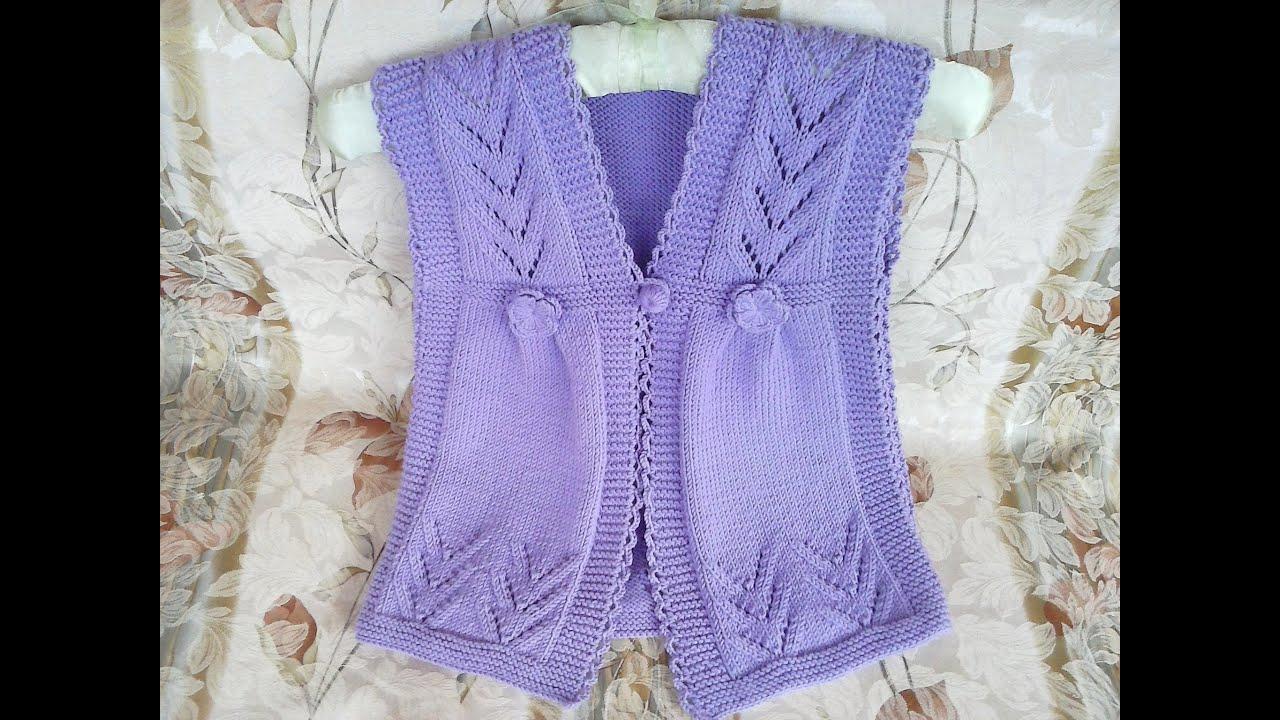 Вязаная жилетка для девочки - Описание вязания, схемы ...