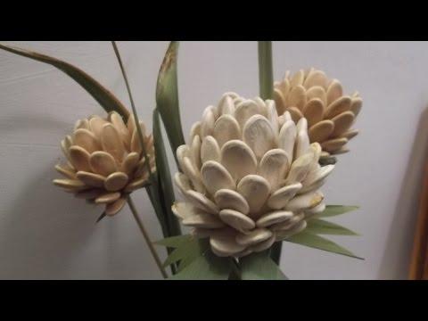 Поделки осенние из тыквенных семечек