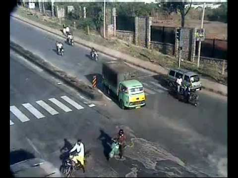Accident Bus Hits Two Wheeler By Bangalore Traffic
