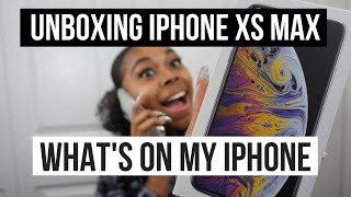 """IPHONE XS MAX UNBOXING + """"WHAT'S ON MY IPHONE XS MAX"""""""
