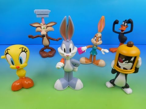 2012 THE LOONEY TUNES SHOW SET OF 6 McDONALD'S HAPPY MEAL KID'S TOY'S VIDEO REVIEW