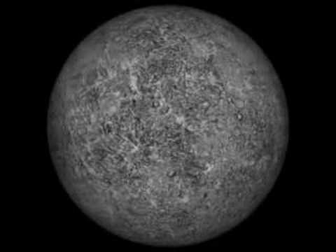 Rotation 3D de la planète Mercure