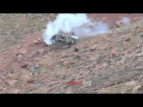 (Slow Mo) Jeremy Foly crash 2012 Pikes Peak International Hill Climb