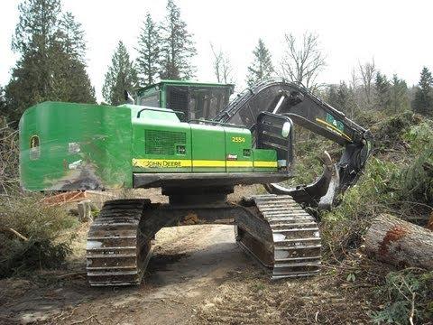 John Deere 2554 Forestry Excavator Youtube