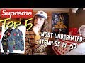 Top 5 Most Underrated Supreme Items of S/S 18 Season