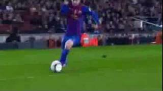 Cristiano Ronaldo is stealing the ball from Messi