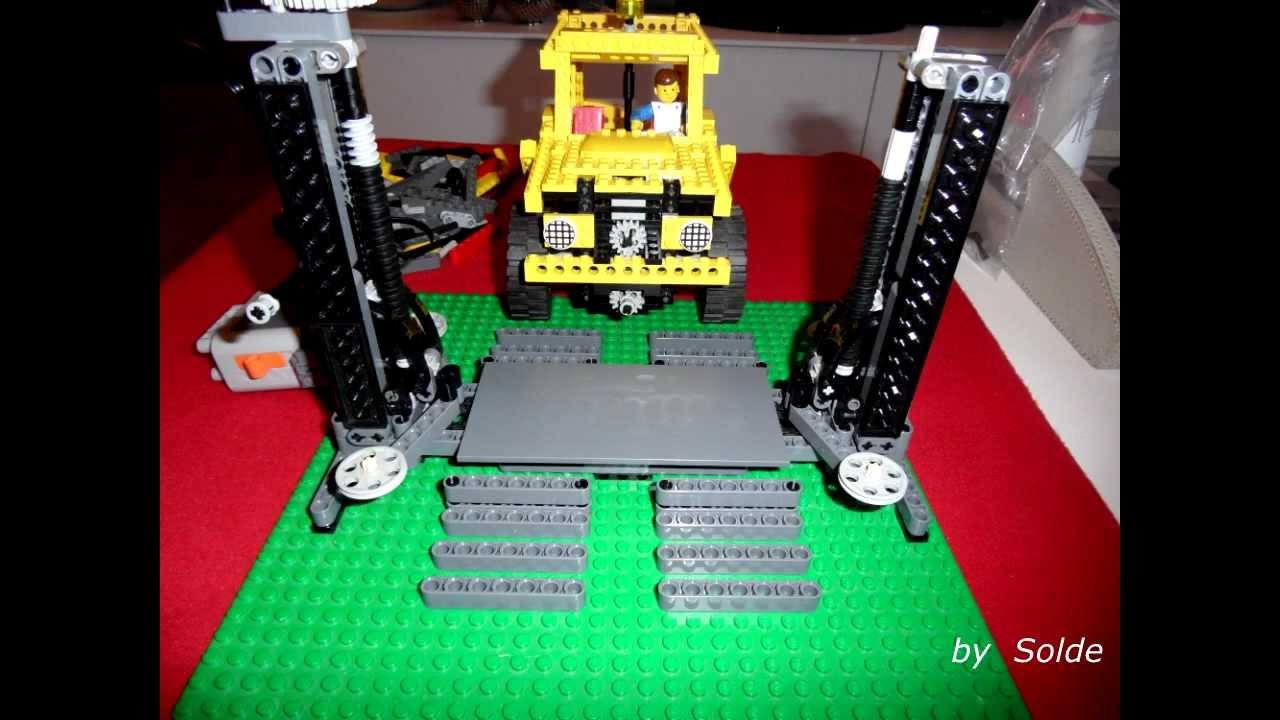 Lego Technic Elevator Car Lift By Solde Youtube