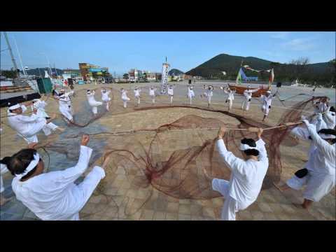 다대포 후리소리 3과장 노젖는 소리  busan , korea traditional  fisher man  song catching anchovy song
