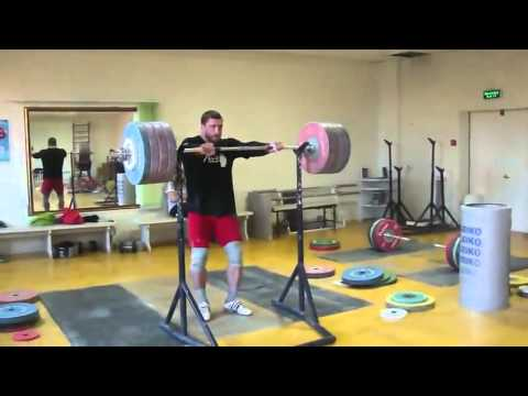 Dmitry Klokov 225 Kg (495lb) Push Press Image 1