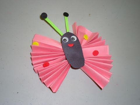 Episodio #569- Cómo hacer una mariposa con papel de construccion