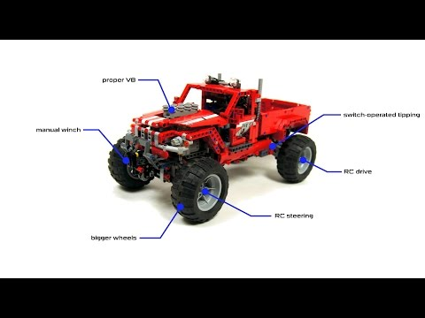 Lego Technic 42029 Custom Pick-Up FULL RC MOD with instructions