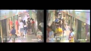 Chinos en el metro de Shangai huyen despavoridos al desmayarse un 'hombre blanco'