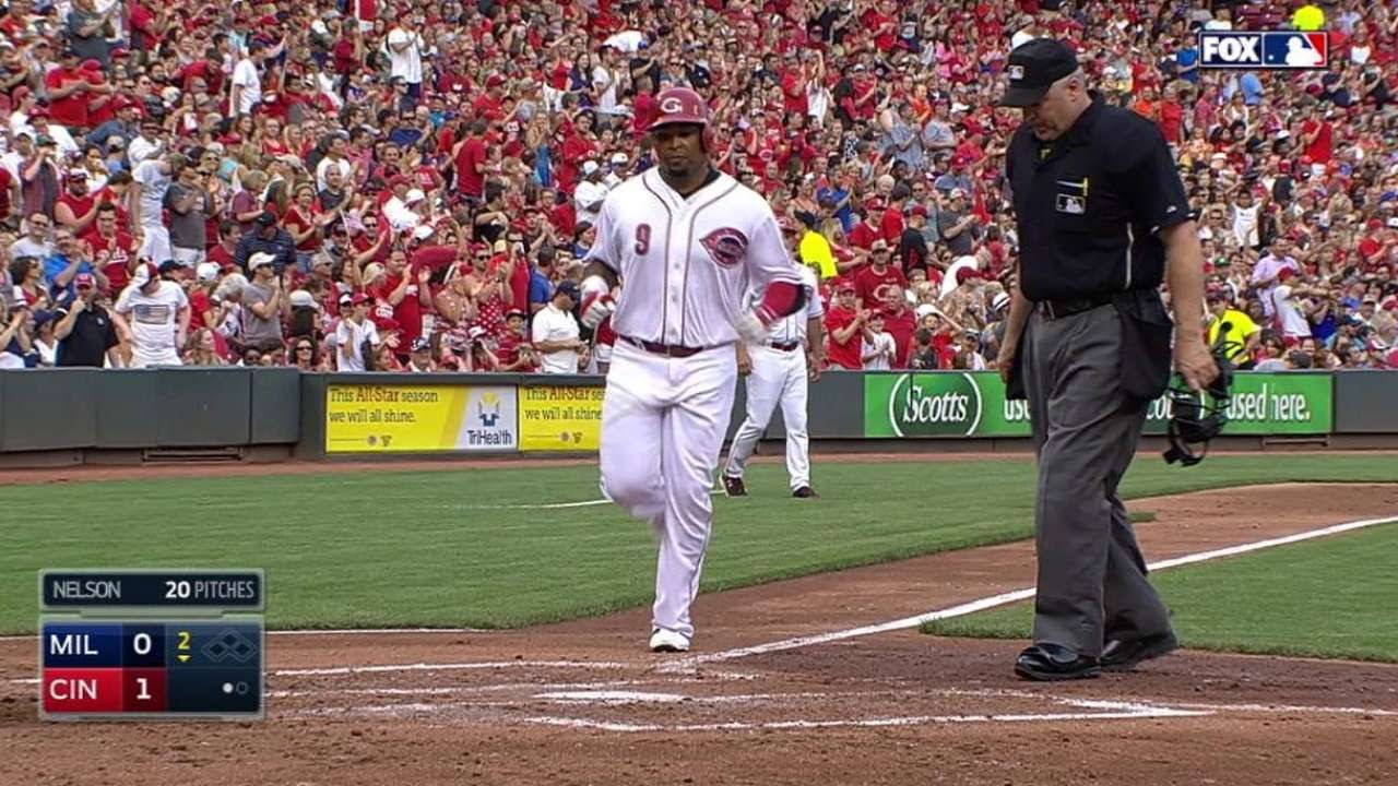 MIL@CIN: Byrd homers to give Reds a 1-0 lead