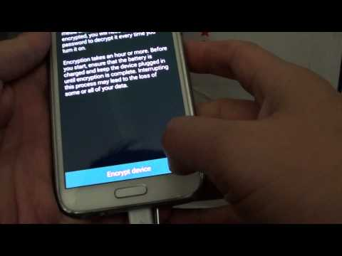 Samsung Galaxy S5: How to Encrypt The Phone's Data