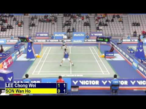 R32 - MS - Lee Chong Wei vs Son Wan Ho - 2014 Korea Badminton Open (T G2 19-18)