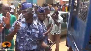 Comble de la provocation: La gendarmerie essaie de traverser la foule en sit-in au CHU S. OLYMPIO