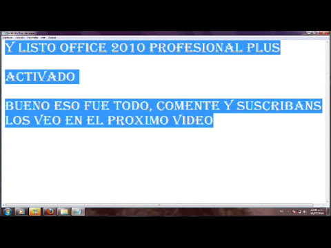 Como Activar Office Profesional Plus 2010 Final