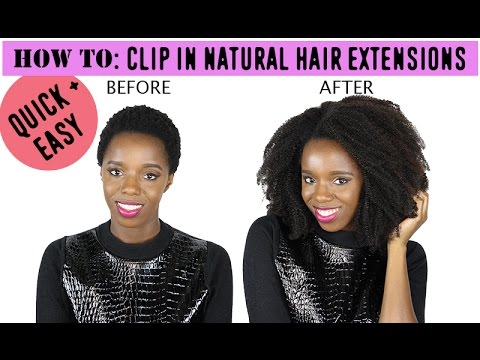 Clip Ins on Short Natural Hair For Natural Hair Clip in