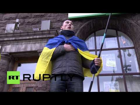 Ukraine: Human chain shows protesters' desire for EU connection