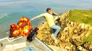 GTA V Unbelievable Crashes/Falls - Episode 14