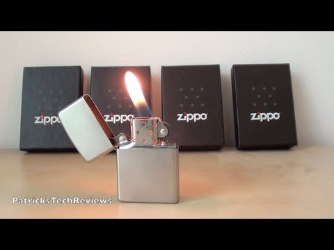 Satin Chrome Zippo Lighter 205 - short review