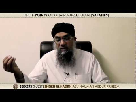 6. Six points of Salafis