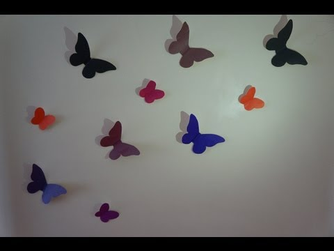 Видео как сделать бабочку