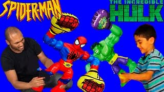 Spiderman Vs Hulk Smash Avengers Age of Ultron - New Toys Fighting Video 2015